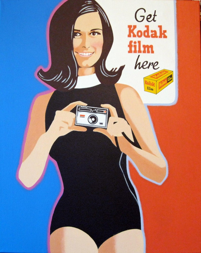 kodak girl painting
