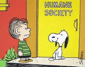 linus and snoopy peanuts comic