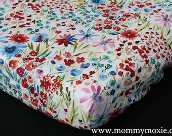 Navy and  Mint- Let the Adventure Begin by Mommy Moxie on Etsy Coral Changing Pad Cover in Fox Bird Feather