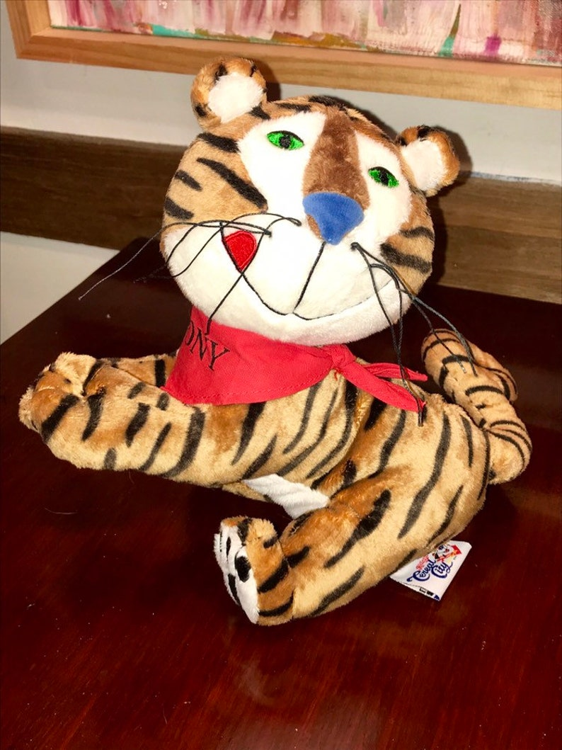 Advertising Good Tony The Tiger Frosted Flakes Kellogg's Cereal Advertising Premium Doll Toy Box Choice Materials