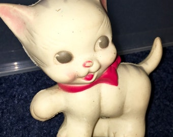 vintage Ruth Newton Sun Rubber baby squeaky toy kitty cat