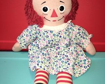 vintage knickerbocker Raggedy Ann rag doll rag doll