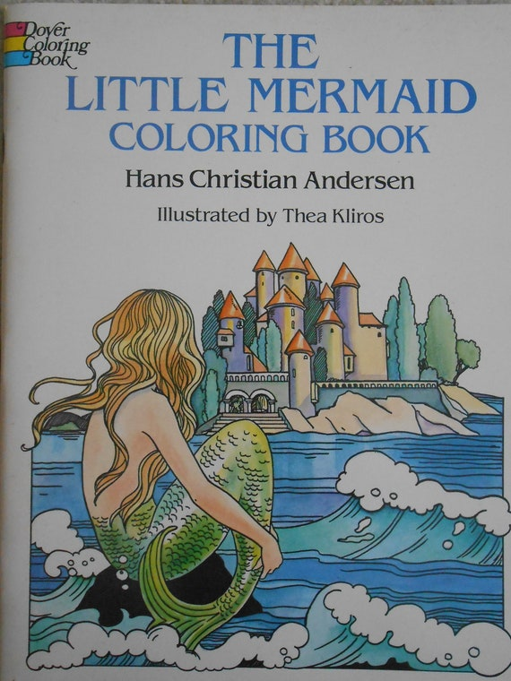 - The Little Mermaid Coloring Book Dover Coloring Book Hans Etsy