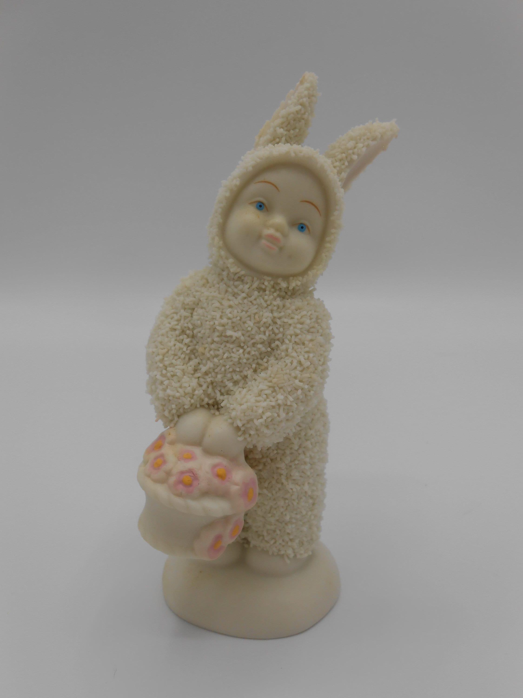 "Snowbunnies Department 56 /""Flower Basket/"" Easter 2000"