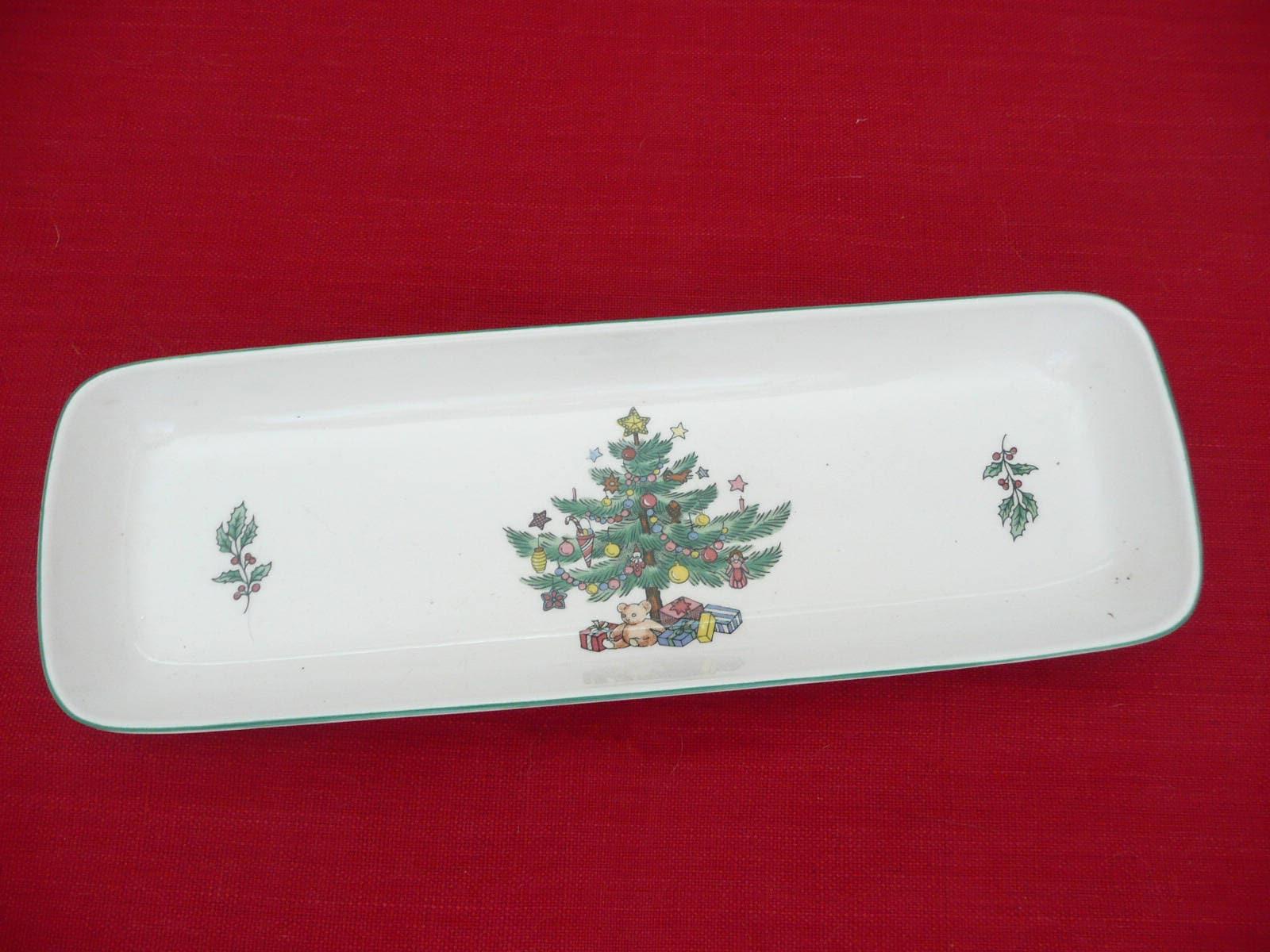 Nikko China Christmas Olive Dish Nikko Christmas Mint Dish   Etsy
