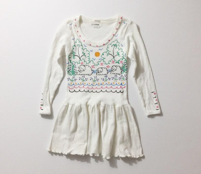 ba27a315cf4 Vtg girls dress handpainted dress childs dress etsy jpg 794x690 Hand painted  dresses