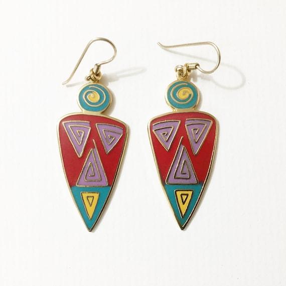 Laurel Burch earrings, Laurel Burch dangles, Laure
