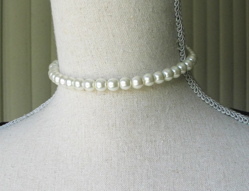 Ivory Pearl Choker 18th century jewelry Outlander Inspired image 0