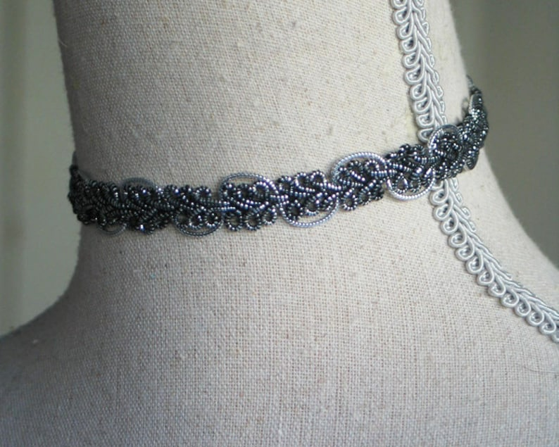 Celtic Style Knotted Choker Silver Celitc Knot Jewelry image 0