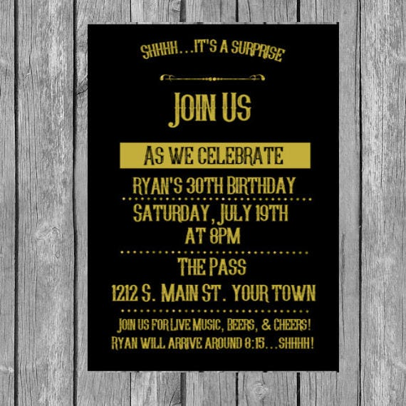 35th Birthday Invitation Invite