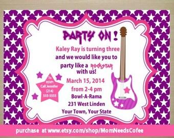 Rockstar invite Etsy