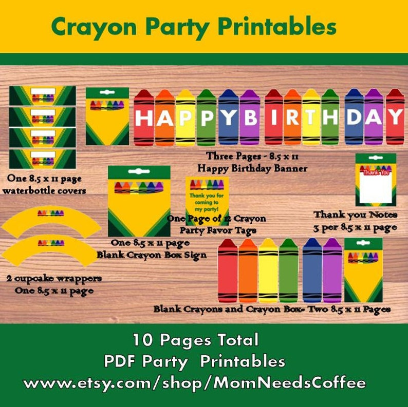 photo about Printable Crayons named Printable Crayon Social gathering Package deal, Crayon Get together Printables, Printable Celebration Products, Crayon, Crayon Birthday, Crayon Celebration Printable Web pages