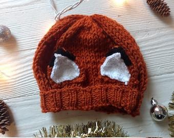 Fantastic Fox Ear Knit Hat