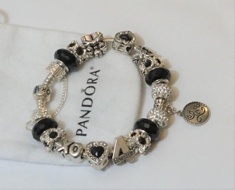 I Love You Forever Xo Authentic Jared Pandora Bracelet Etsy