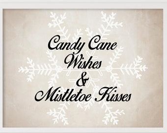Christmas Home Decor Printable and SVG. Candy Cane Wishes. Fun Holiday Sign, Winter Wall Decor, Holiday Decor Sign, Farmhouse Christmas