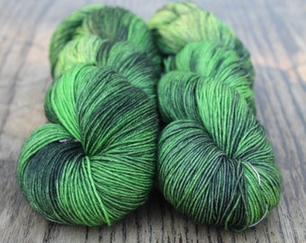 Hand Dyed Merino Light in Forest Den colourway - Colour Adventures