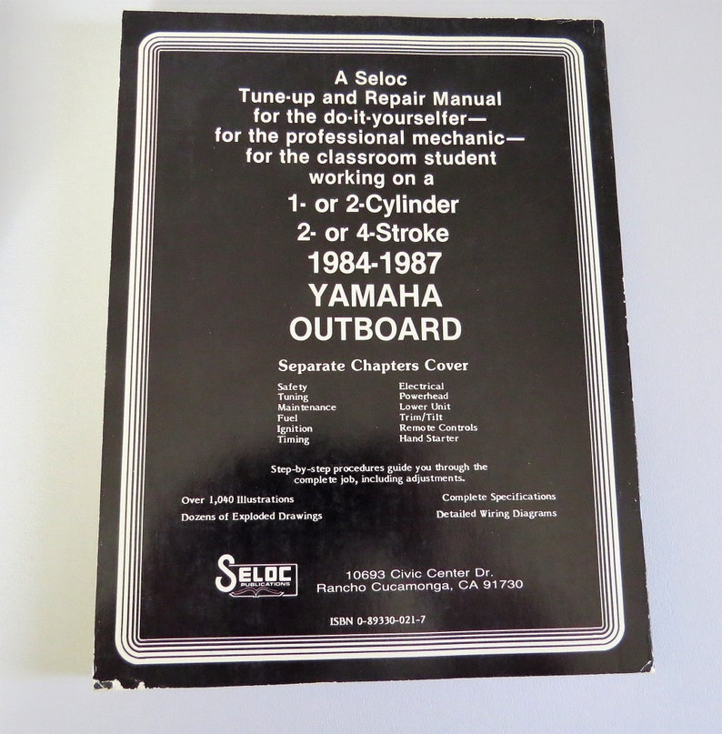 Seloc Yamaha Outboard Tune Up and Repair Manual, 3 Volumes I II III, Joan  Clarence Coles 1984-1988, Boat Motor Repair Certified Textbooks