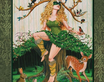 """The Spring Queen 11""""X14"""" Archival Art Print"""