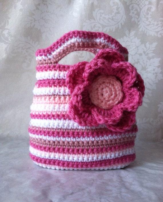 Gehäkelte Tasche für Mädchen häkeln Tasche Tasche Rosa | Etsy