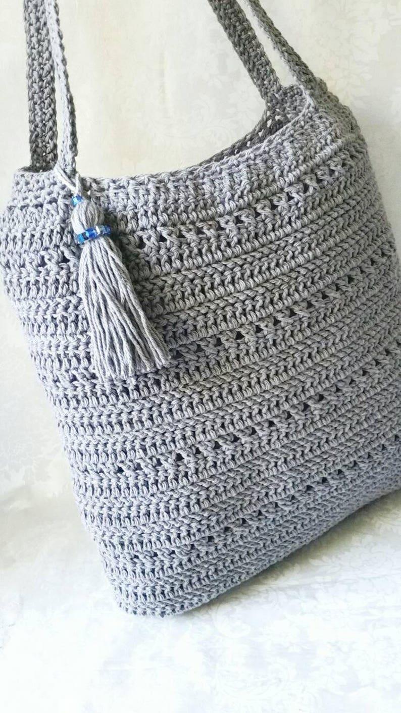 Crochet Shoulder Bag Tote Bag Crochet Handbag Etsy
