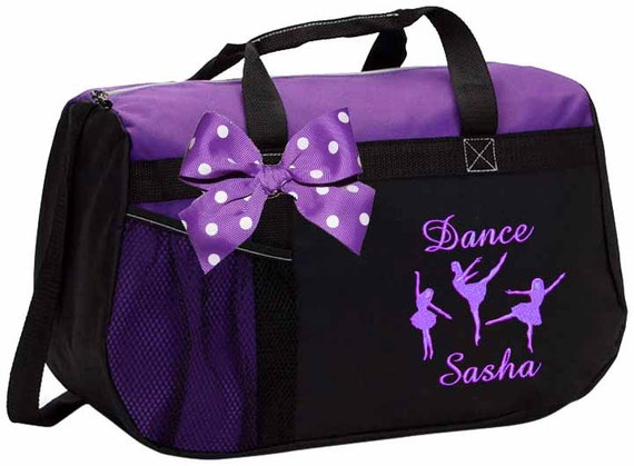 All About Me Company Standard Colorblock Sport Duffel Bag Personalized Dance Gym Bag