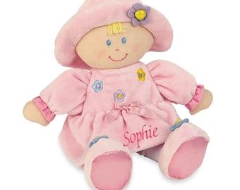 "PERSONALIZED Kids Preferred Kira Soft Pink Baby Doll 11"" Tall"