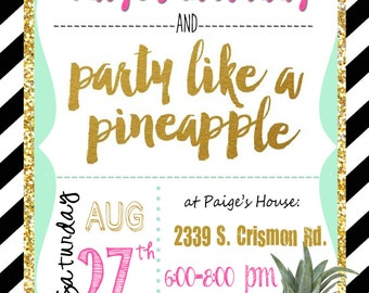 Party Like a Pineapple Invitation
