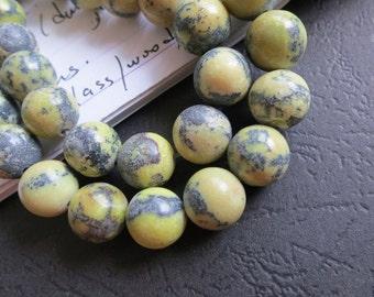 Yellow Turquoise 10mm Round Beads