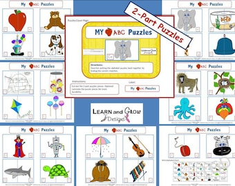 Alphabet Puzzles Game that Matches Uppercase and Lowercase Alphabet Letters