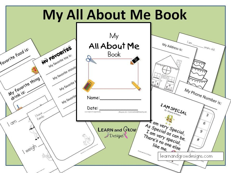 my all about me book etsy