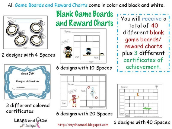image about Printable Game Boards called Printable Blank Recreation Message boards, Benefit Charts, and Certificates
