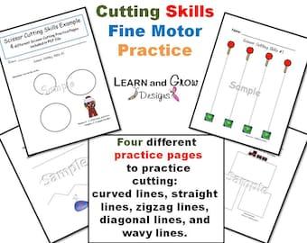 Cutting Skills Fine Motor Practice