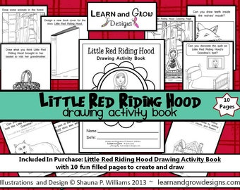 Little Red Riding Hood Drawing Activity Book