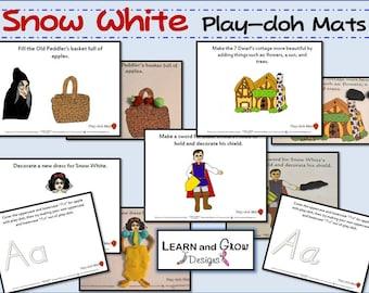 Snow White Play-doh Mats for Children