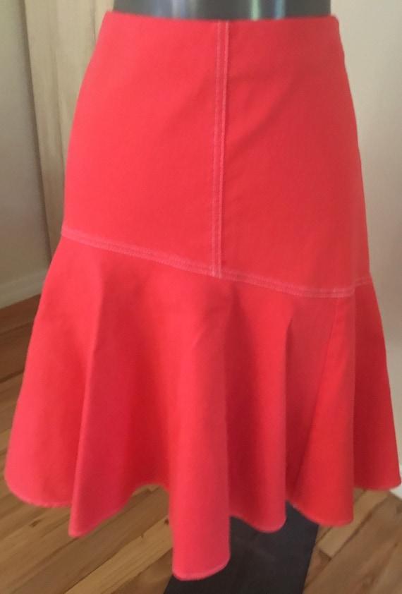 Vintage Ralph Lauren Orange Denim Skirt - image 3