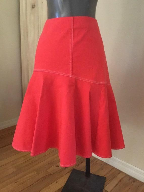 Vintage Ralph Lauren Orange Denim Skirt - image 2