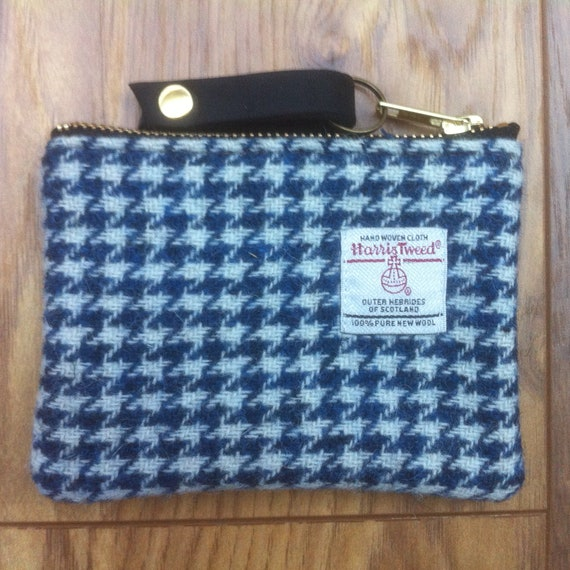 ready to ship,birthday gift gift for her zipper pouch purse Harris tweed coin purse