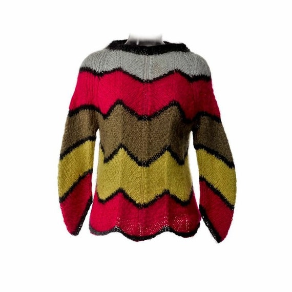 Vintage Multi-Colored Mohair Sweater