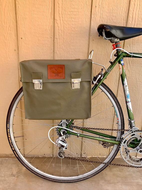 Vintage Swiss Vinyl Messenger Bag Bicycle Pannier