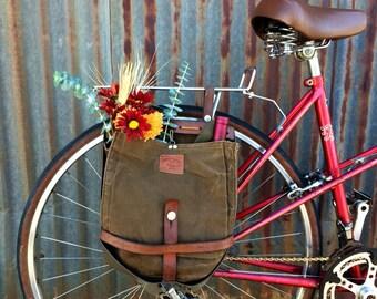 Set of 2 Vintage Swiss Breadbag Bicycle Panniers