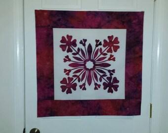 Outstanding vintage s hawaiian applique cutout antique quilt