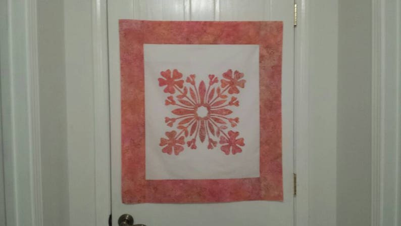 Quilt top pre designed quilt top hawaiian appliqué quilt etsy