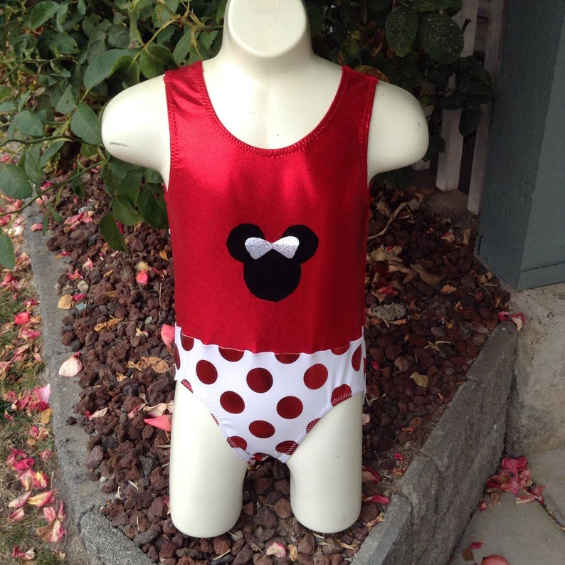 9d3168ed1c10d Disney Minnie Mouse inspired Leotard for dance gymnastics | Etsy