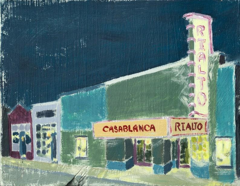 The Rialto Theatre in Five Points Raleigh NC Rialto Nighttime