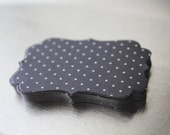 Black Mini Dot Decorative Die Cut Tag Sticker Set of 10