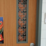 CLASSROOM DOOR WINDOW Curtain custom made for Teachers