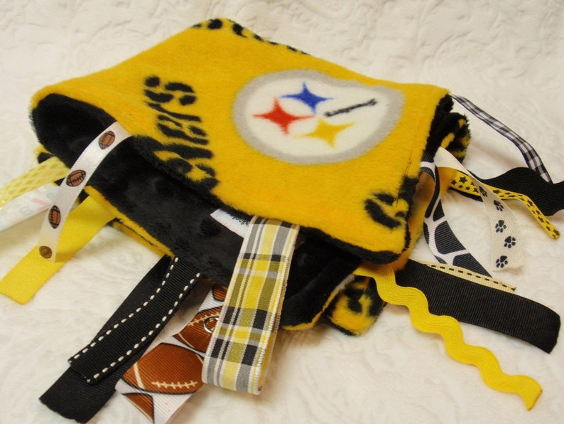 Pittsburgh Steelers Blanket with Ribbons image 0