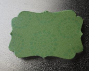 Green Circle Dot Decorative Die Cut Tag Sticker Set of 10
