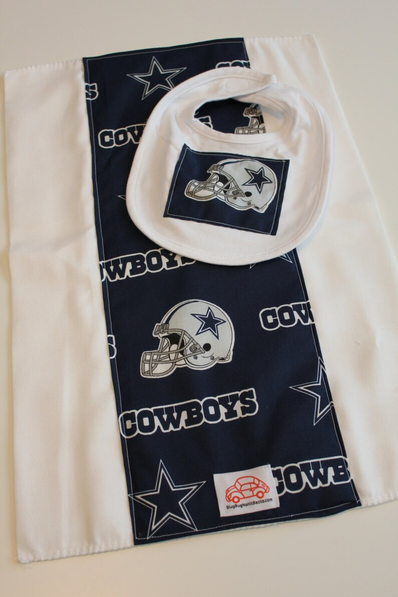 Dallas Cowboys Bib and Burp Cloth Set image 0