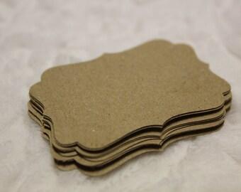 Brown Paper Sack (KRAFT) Decorative Die Cut Tag Set of 20